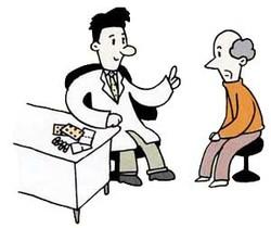 """図8:"""" 薬の変更""""は必ず主治医と相談すること"""